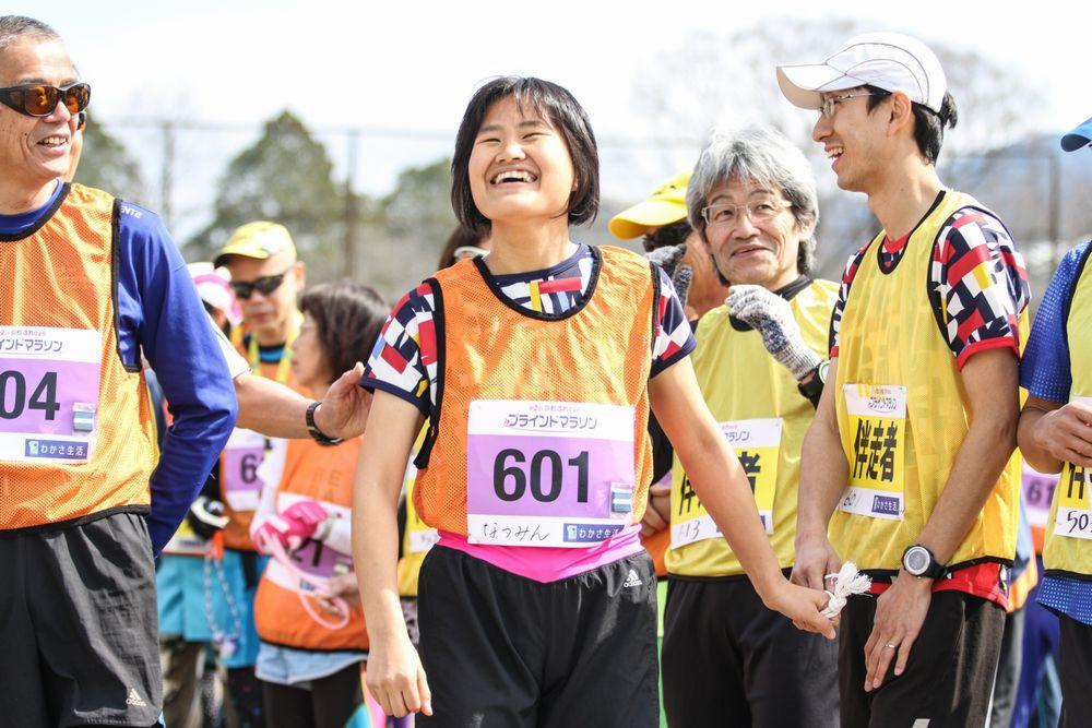 井内奈津美さんと伴走者のゴール後の写真