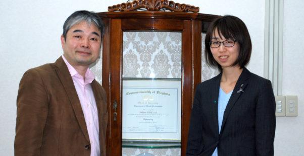 北出勝也先生と大江編集長のツーショット写真