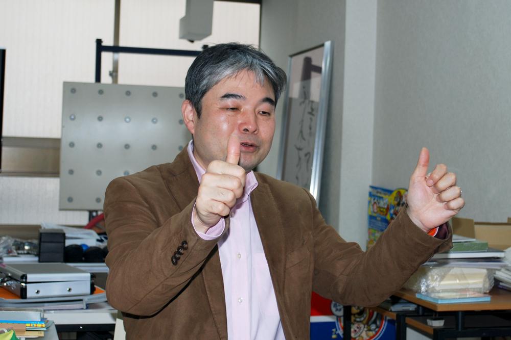 北出勝也先生メノコト体操説明中の写真