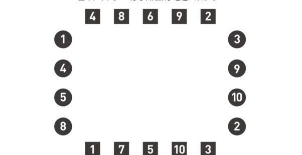 ビジョントレーニング跳躍性眼球運動初級「目のジャンプ-はなれた数字を追いかけて-」トレーニングシート