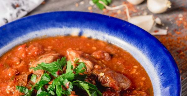 豚肉のトマト煮込みのイメージ写真