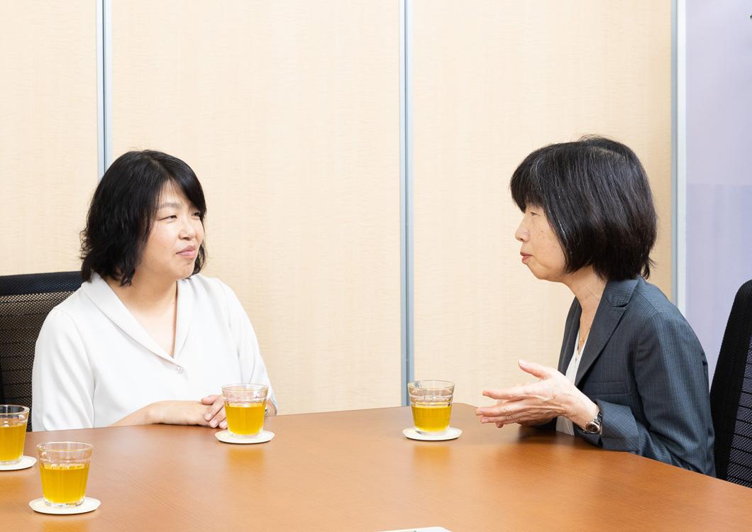 読者ママと新井さんの写真