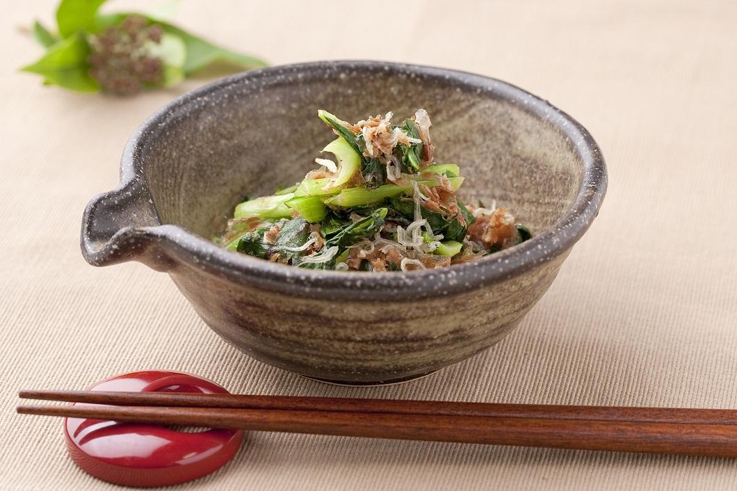 小松菜とじゃこの梅肉合えの写真