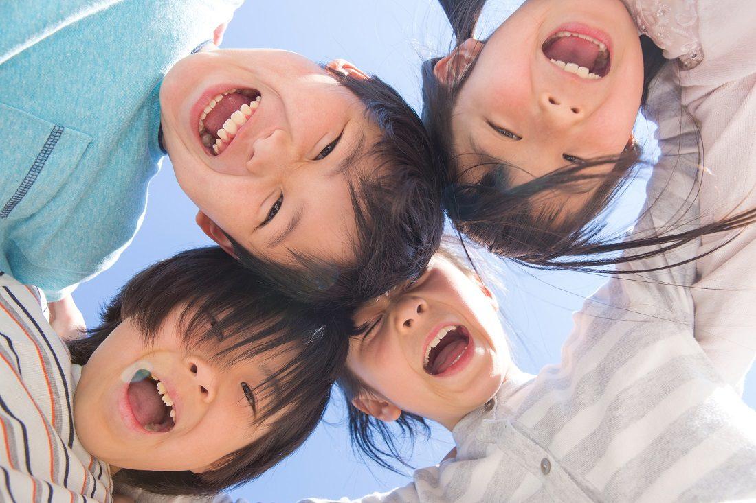 子どもたちの笑顔の写真