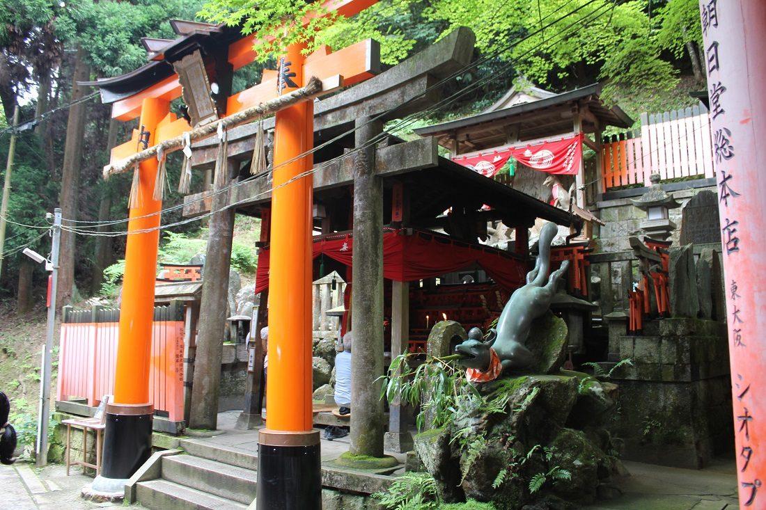 京都眼力社鳥居ときつねの写真