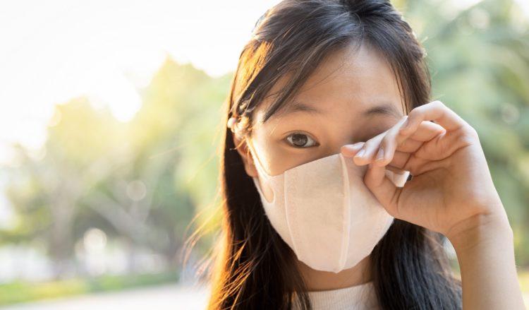目からの感染予防