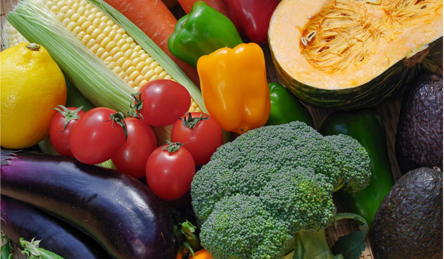 色とりどりの緑黄色野菜